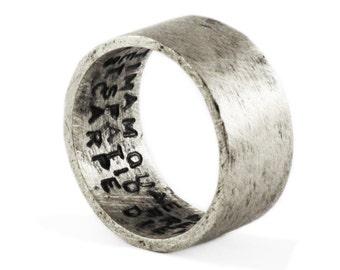 YARDSALE - super CHEAP - Mens Silver Ring Silver Ring Hand Stamped Ring Mens Wedding Band Mens Jewelry Wedding Band Men's Silver