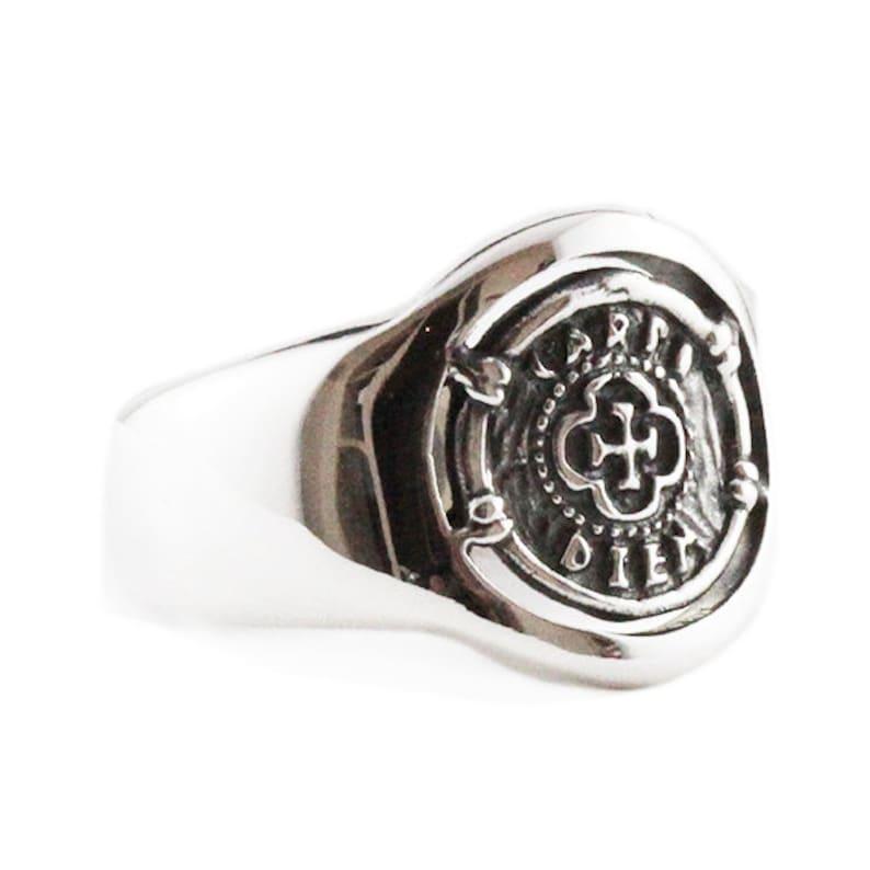 672fbf70b045e White Gold Signet Ring Man Jewelry 14k Coin Mens Custom Rings