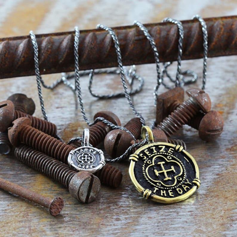 Carpe Diem Necklace Mens Necklace Mens Jewelry Carpe Diem Pendant Men/'s Necklace Mans Necklace Mens Silver Necklace Gold Necklace