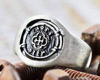 Mens Signet Ring - Carpe Diem Ring - Chevaliere Homme - Custom Signet Ring - Man Carpe Diem Ring - Carpe Diem Signet Ring