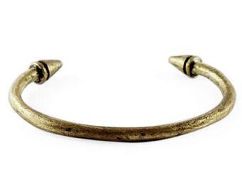Gold Spike Cuff Oxidized Man Bracelet Cool Jewelry