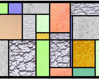 Burton Blocks abstract stained glass pattern design