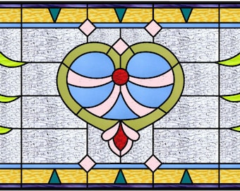 Rust Transom stained glass pattern design