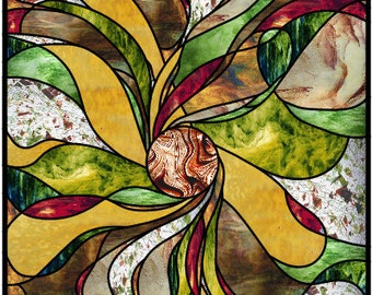 Lake Kiowa Abstract stained glass pattern design