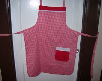 Candy striper style vintage cream black polka dot apron with bow great for kitchen teas bridal showers cotton fabric Ready to ship