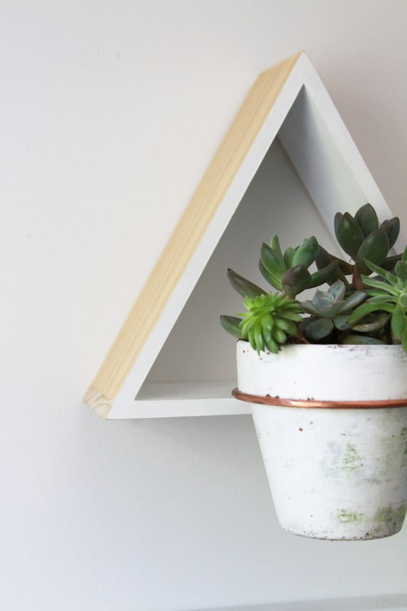 Triangle Wall Mount Plant Holder // Modern Wall Decor // | Etsy