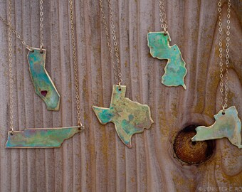 Any State or Country Necklace