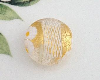 Venetian Beads, Gold Lace, Murano Glass Beads, Murano Beads, Venetian Glass Beads, Ocean Beads, Italian Beads, Murano Glass, Pendant