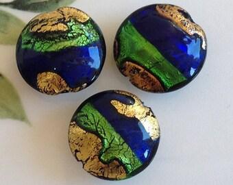Murano Glass Beads, Cobalto Lago, Venetian Beads, Murano Beads, Venetian Glass Beads, Italian Glass Beads, Italian Beads, Murano Glass, 20mm