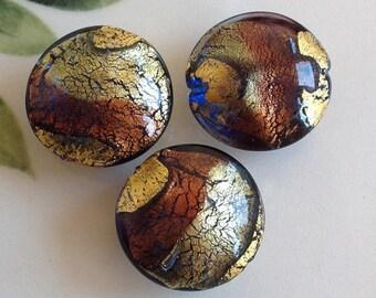 Murano Glass Beads, Bluino Ametista, Venetian Beads, Murano Beads, Venetian Glass, Italian Glass Beads, Italian Beads, Murano Glass, 20mm