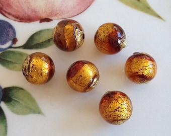 Murano Glass Beads, Carmello, Venetian Beads, Murano Beads, Venetian Glass Beads, Italian Glass Beads, Italian Beads, Murano Glass, 12mm