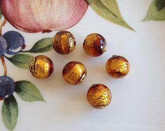 Murano Glass Beads, Carmello, Venetian Beads, Murano Beads, Venetian Glass Beads, Italian Glass Beads, Italian Beads, Murano Glass, 10mm