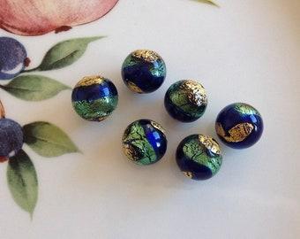 Murano Glass Beads, Farfalla Blu, Venetian Beads, Murano Beads, Venetian Glass Beads, Italian Glass Beads, Italian Beads, Murano Glass, 10mm