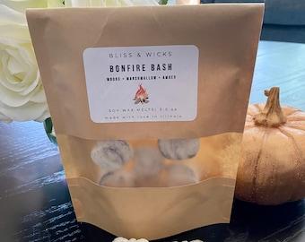 Bonfire Bash Soy Wax Melts | Marshmallow Melts | Fall Scented Wax Melts | Fall Decor | Pumpkin Wax Melts