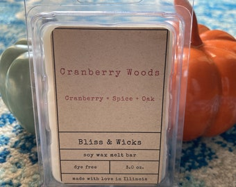 Cranberry Woods Wax Melts | Fall Wax Melts | Soy Wax Melts | Cranberry Melts | Autumn Wax Melts