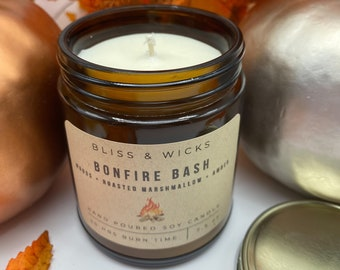 Bonfire Candle | Marshmallow Scented Candle | Fall Candle | Soy Candle | Autumn Candle