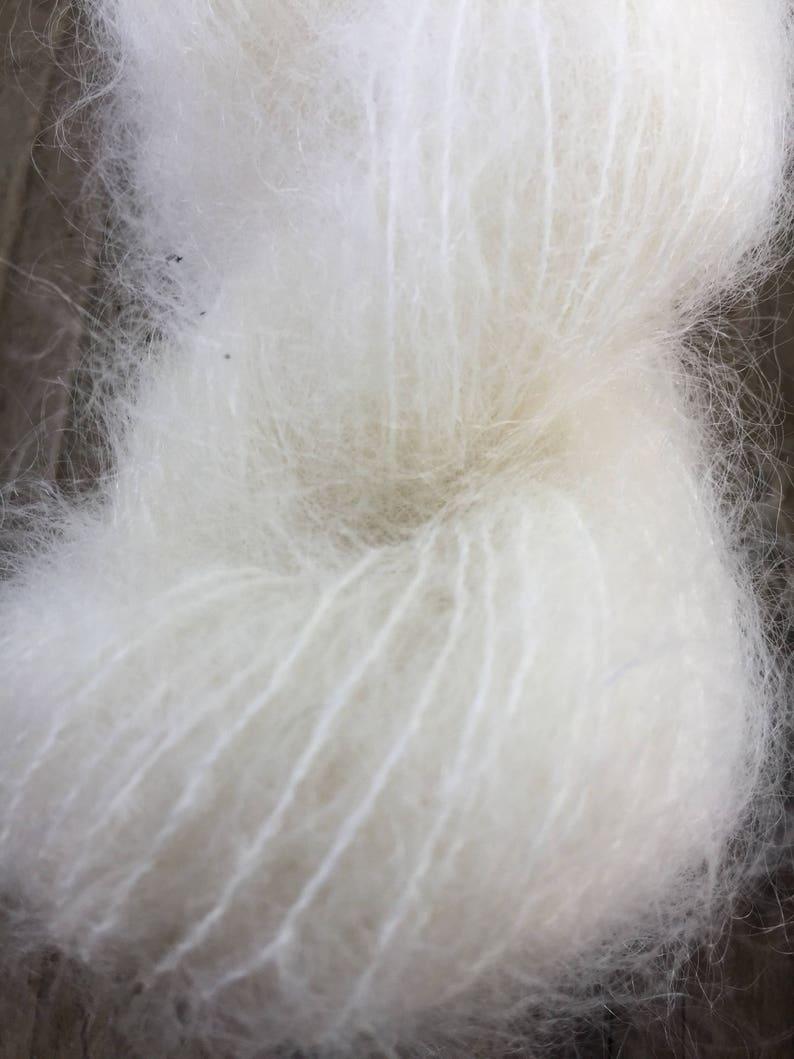 Brushed Mohair yarn hand dyed knitting crochet supplies wool yarn  Waldorf Doll hair merino baby photo prop