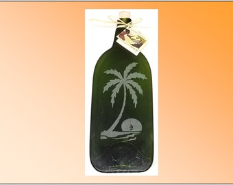 Recycled Wine Bottle Plate, Palm Island