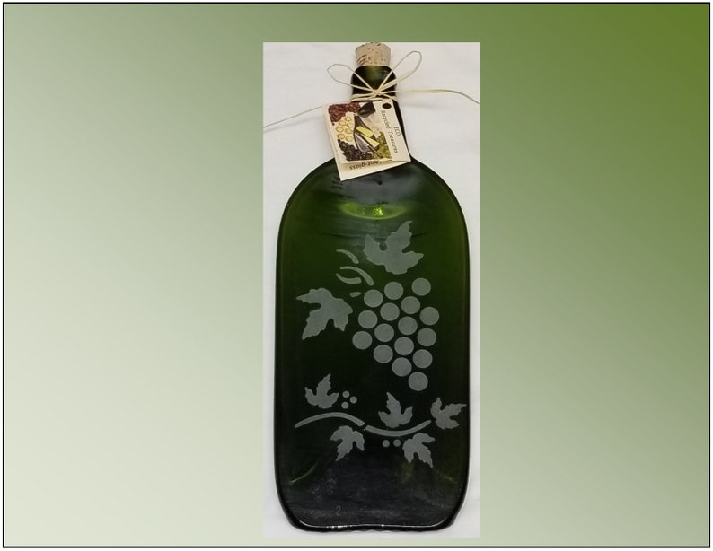 Recycled Wine Bottle Plate Bordeaux Grape image 0