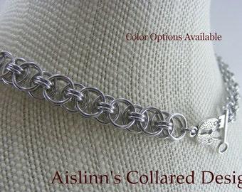 Bright Helm Weave BDSM Slave Collar Choker Necklace