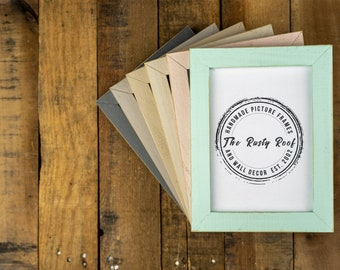 Distressed Picture Frames, Picture Frames, Rustic Picture Frames, Picture Frame, Photo Frames, Picture Frames Wood, White Frames, Emily