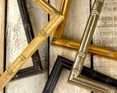Bamboo Picture Frame - Gold Bamboo- Black Bamboo- Aged Black - Natural - 8x10 - 5x7 - 11x14 - 16x20 - Choose Your Size- Old World Frames
