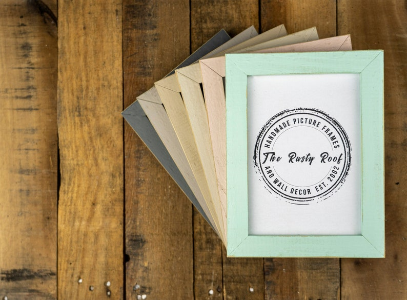 Distressed Picture Frames Picture Frames Rustic Picture image 0