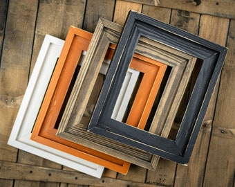 Farmhouse Distressed Frame, Picture Frames, Rustic Picture Frame, Hand Painted, Stacked, 4x6, 5x7, 8x10, 16x20