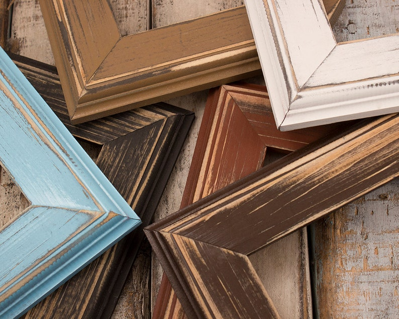 Picture Frame Set Choose Your Own Frame Sizes/Colors Rustic image 0