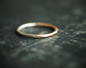 Mixed Metal Ring - Sterling Silver and 14kt Goldfill