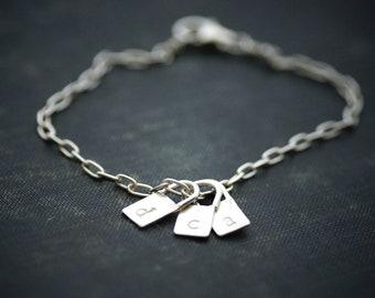 Lock Initial Charm Bracelet - Sterling Silver