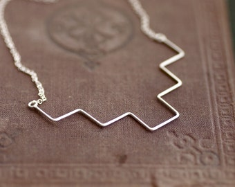Geometric Sterling Necklace