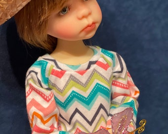 Zigzag For Fun play outfit for BJD MSD