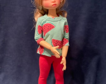 Watermelon Time  play outfit for MSD BJD dolls modeled by KW dol