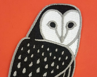 Barn Owl Embroidered Patch