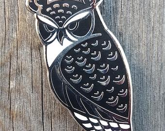 Horned Owl Lapel Pin