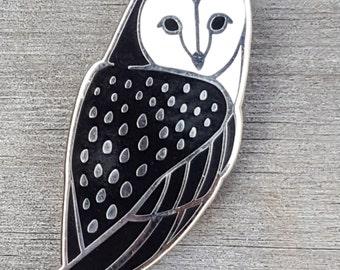Barn Owl Lapel Pin