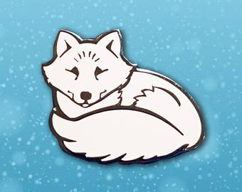 Arctic Fox Lapel Pin