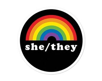 Pronoun stickers | Etsy