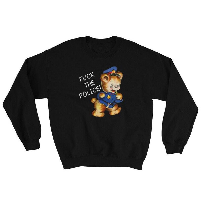 Fuck the Police Sweatshirt  ACAB  Vintage Retro Bear  image 0