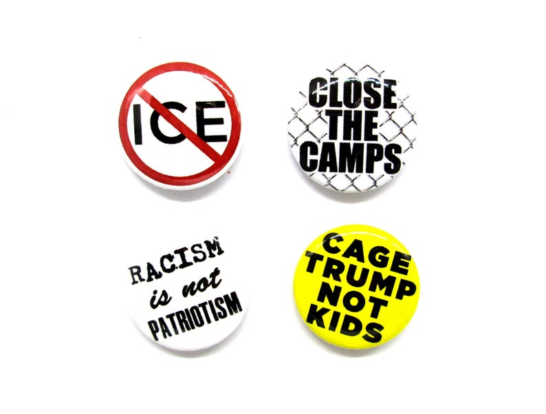 Close the Camps 1 Pin Bundle  Abolish ICE  Cage Trump image 0