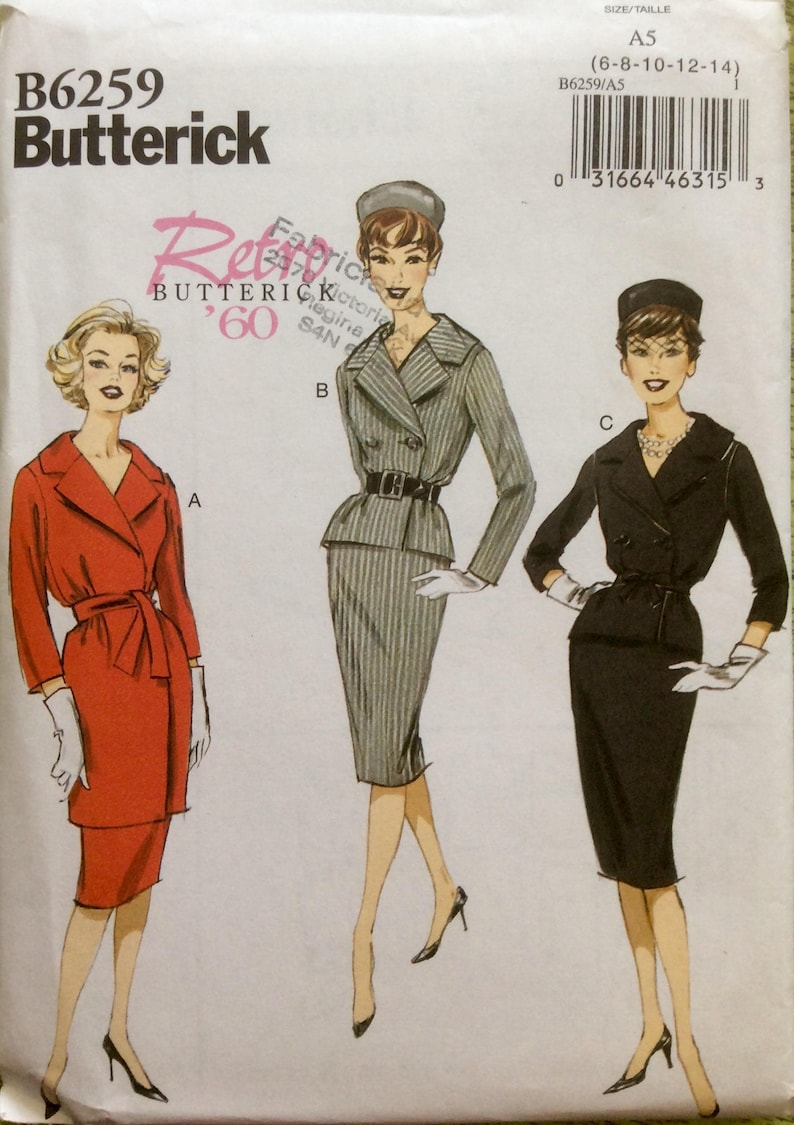 Retro Butterick 1960 Design Sewing Pattern Vintage Skirt And Etsy