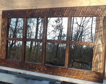 Farmhouse mirror /  rustic mirror  / windowpane  /wall mirror /