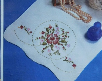 Embroidery 11 Pcs Antique Dresser Scarves With Hand Embroidered Dainty Flowers Antiques