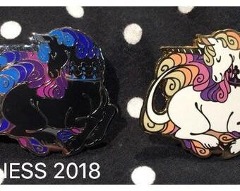 PREORDER // Royal Unicorn pin 1.75 inch   hard enamel pin