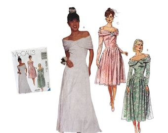 c1f01a421 Vintage 90 s Wedding Gown Sewing Pattern