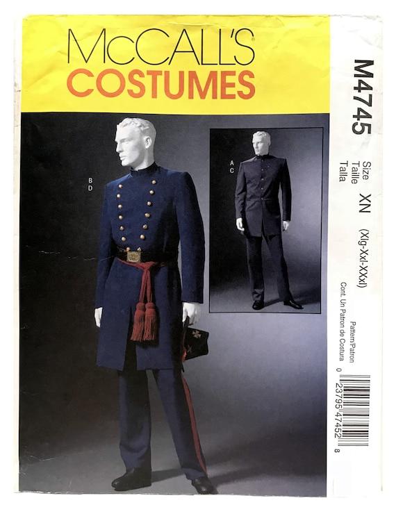Herren Bürgerkrieg Kostüm Muster Herren einreiher Mantel | Etsy