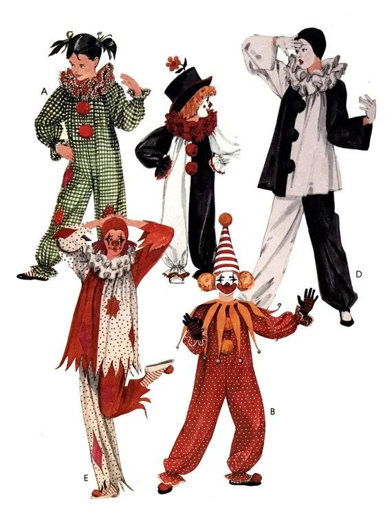 Vintage 80er Jahre Halloween Clown Kostüm Muster Unisex | Etsy