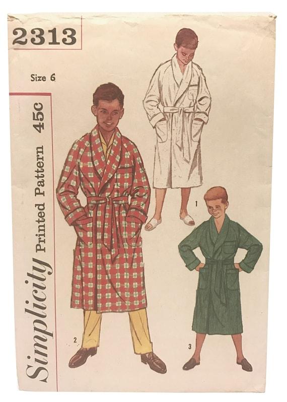 Vintage 50er Jahre Retro-junge Bad Robe Muster jungen Größe 6 | Etsy