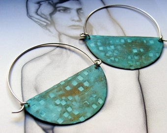 Halfmoon Hoops - Turquoise Color